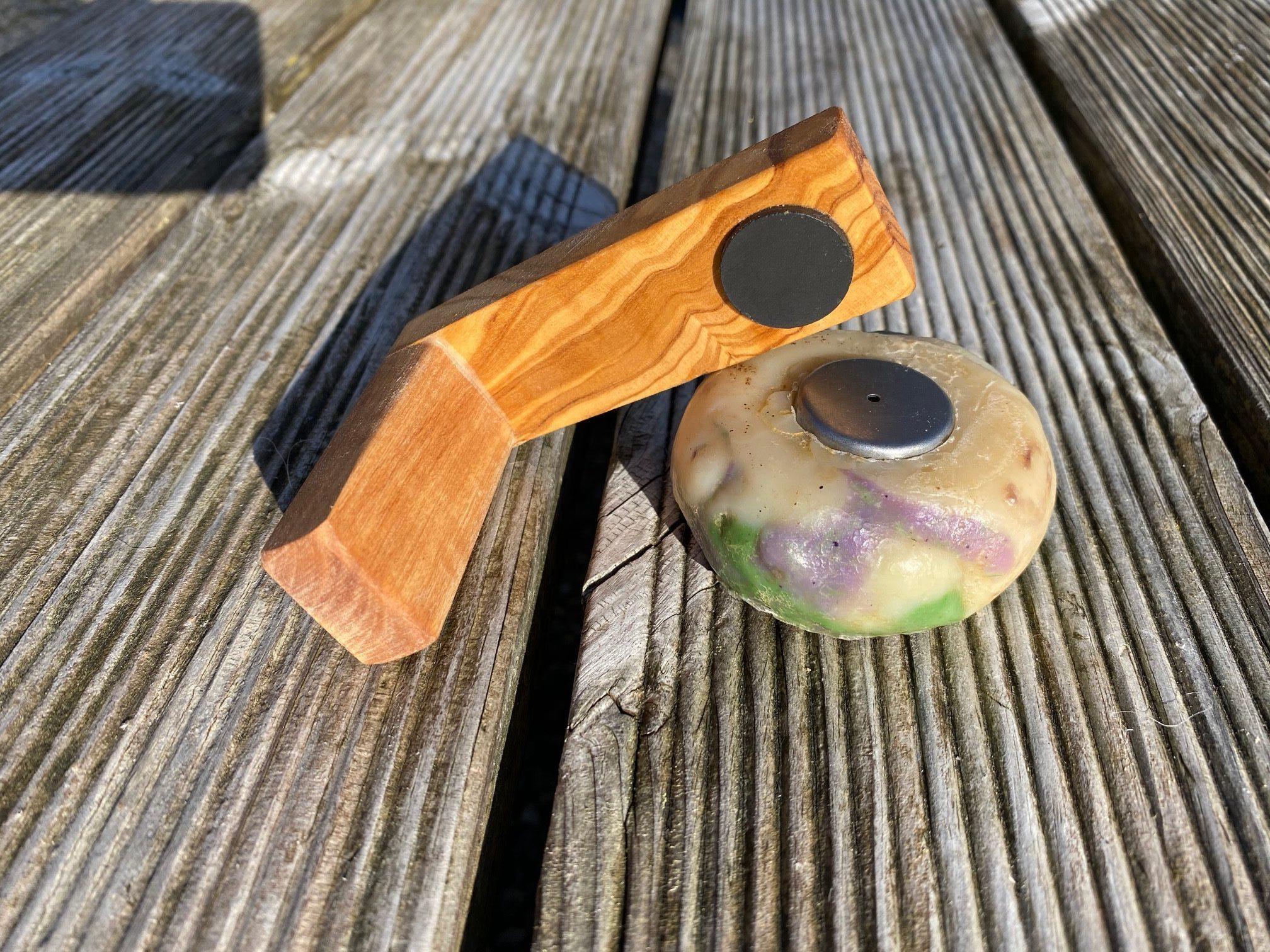 Magnetseifenhalter Olivenholz Seifenhalter
