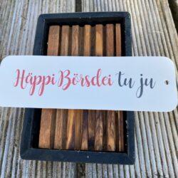 Bierdeckelkarton, Geschenk, Geschenkskarte, Karte mit Text, Spruchkarte, Dialekt, Bärndütsch, Happy Birthday, Geburtstag, Happi Börsdei tu yu